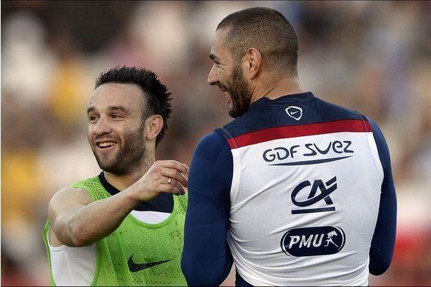 Mathieu Valbuena et Karim Benzema, avant l'affaire de la sextape