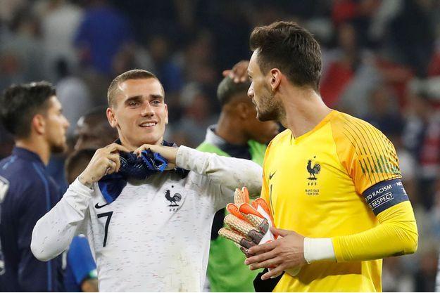 Hugo Lloris et Antoine Griezmann.