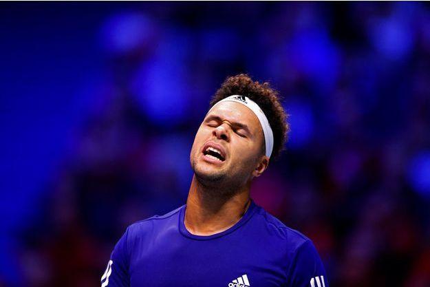 Jo-Wilfried Tsonga a perdu contre David Goffin, dimanche 26 novembre 2017.