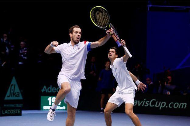 Richard Gasquet et Pierre-Hugues Herbert ont apporté un point à l'équipe de France de Coupe Davis.