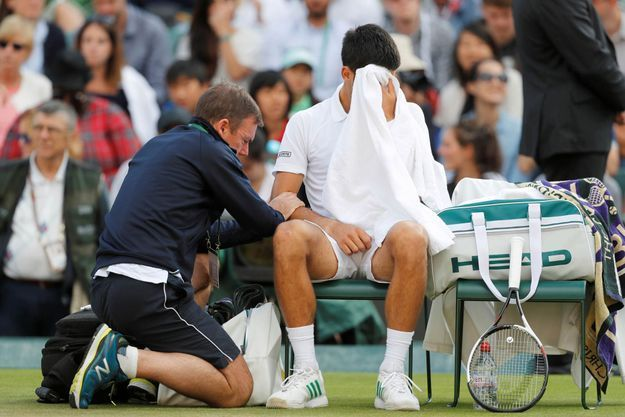 Novak Djokovic a abandonné lors du dernier tournoi de Wimbledon