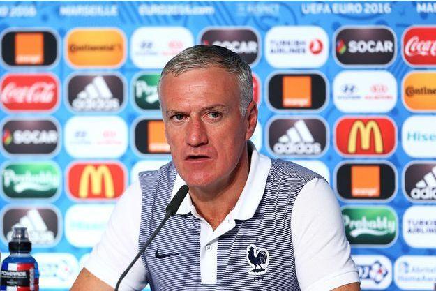 Didier Deschamps lors de la conférence de presse