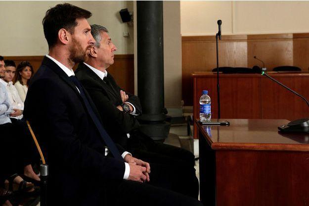 Lionel Messi et son père Jorge Horacio Messi.
