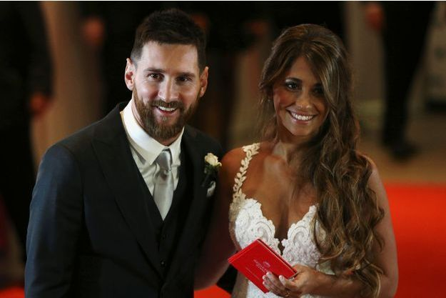 Lionel Messi et son épouse Antonella Roccuzzo