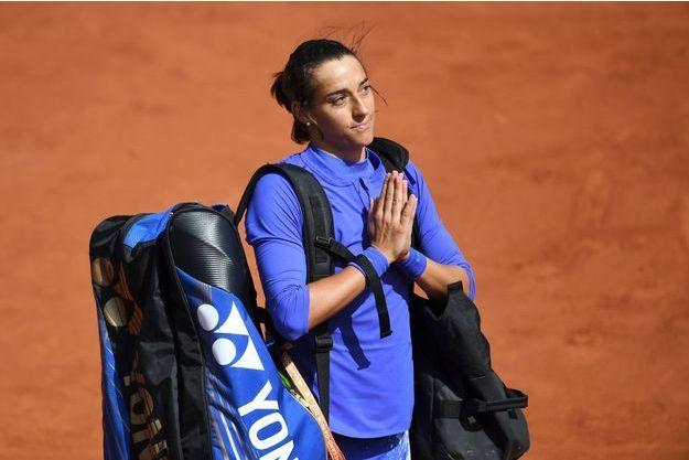 Caroline Garcia remercie le public de Roland-Garros après sa défaite face à Karolina Pliskova.