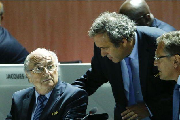 Michel Platini et Sepp Blatter en mai dernier