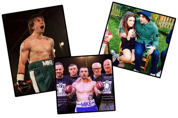 Des clichés que le boxeur Mike Towell avait publié sur sa page Facebook. A droite, avec sa petite amie Chloe.