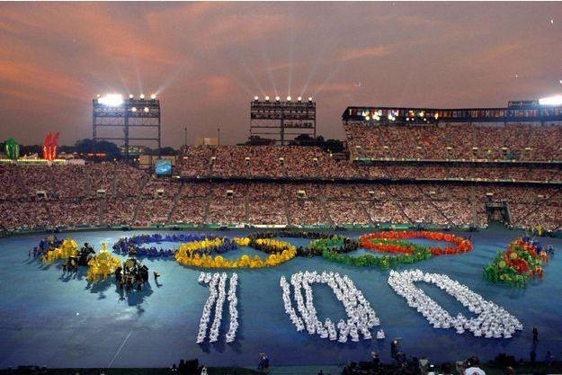 La cérémonie d'ouverture des JO d'Atlanta.