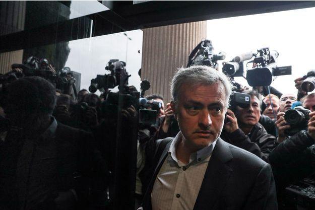 José Mourinho à son arrivée au tribunal de Pozuelo de Alarcon, le 3 novembre 2017.
