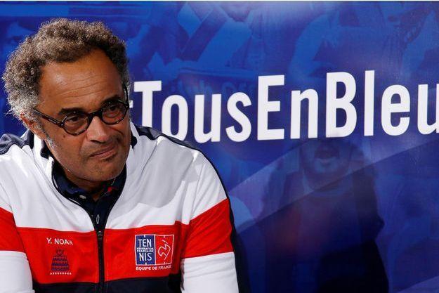 Yannick Noah, le capitaine de l'équipe de France de Coupe Davis.