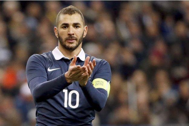 Karim Benzema sous le maillot de l'équipe de France.