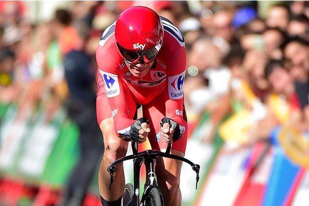 Christopher Froome lors de la 16e étape du Tour d'Espagne.