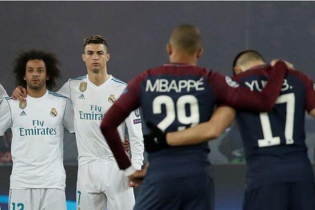 Une minute de silence a été respectée avant la rencontre PSG-Real Madrid.