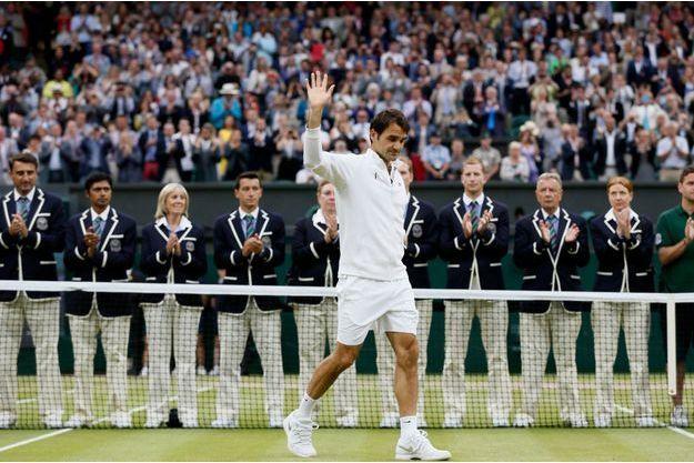 L'émotion était palpable après la rencontre pour Roger Federer.