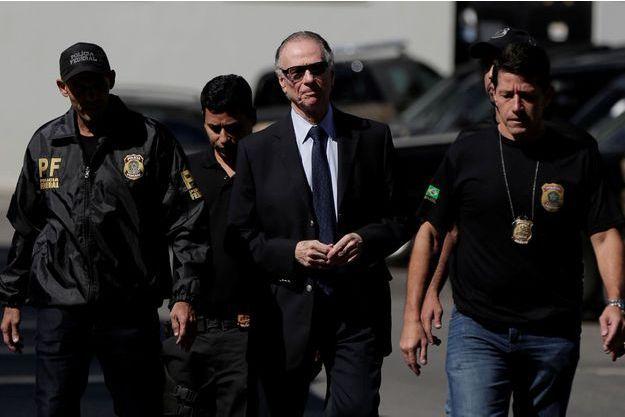 Carlos Nuzman lors de son arrestation à Rio.