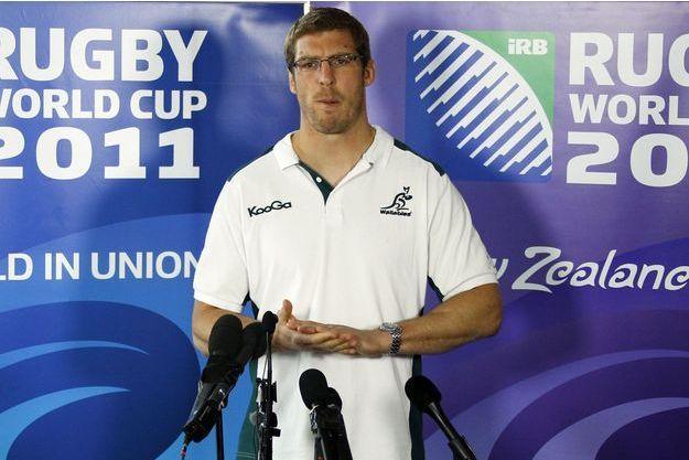 Le rugbyman australien Dan Vickerman, en octobre 2011.