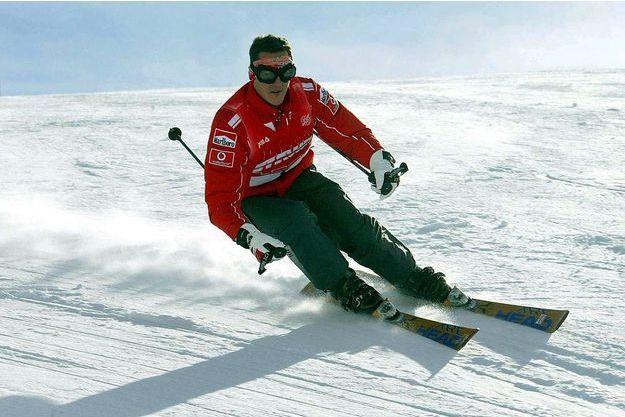 Michael Schumacher à Madonna Di Campiglio en janvier 2004.