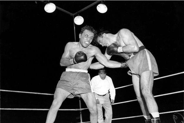 Jake LaMotta (à gauche) avait battu Marcel Cerdan (à droite).