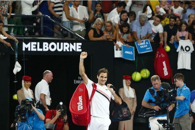Roger Federer à l'Open d'Australie, le 26 janvier 2018.