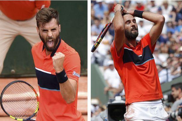 Benoît Paire n'a pas fait le poids face à Rafael Nadal lundi à Roland Garros.