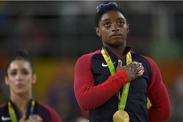 Simone Biles aux JO de Rio.