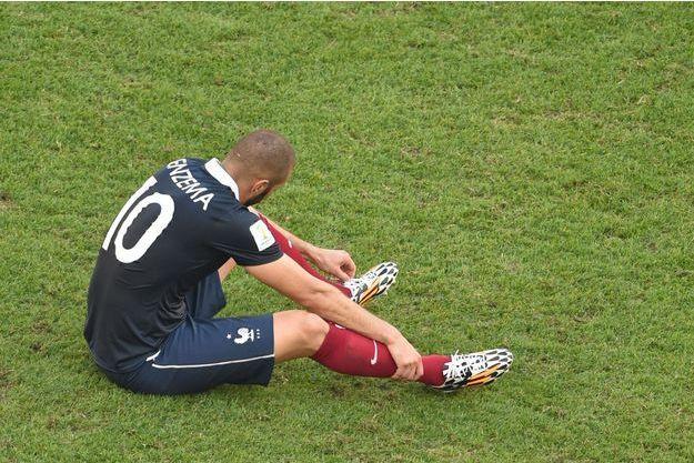 Karim Benzema, le 4 juillet 2014, après la défaite de la France face à l'Allemagne en quart de finale de la Coupe du monde.