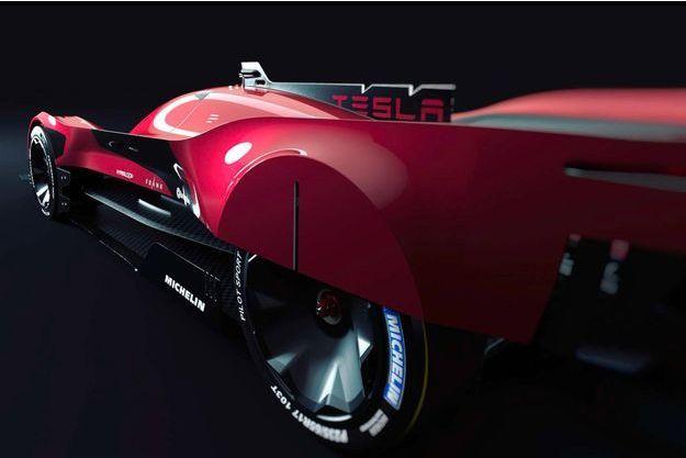 Une Tesla coursifiée dessinée par des designers belges.