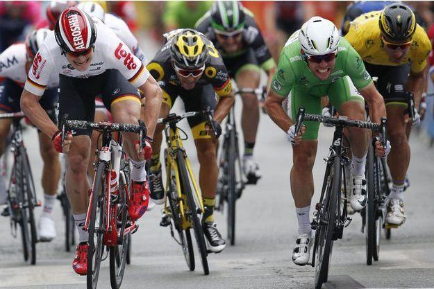Cavendish s'est imposé au sprint à Angers.