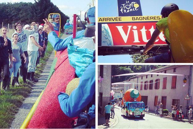 Une étape du Tour de France au coeur de la caravane publicitaire