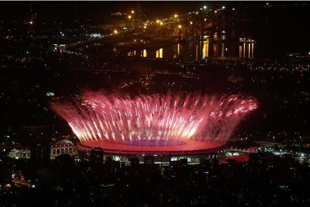 Le stade Maracana lors de la cérémonie d'ouverture des Jeux Olympiques de Rio.