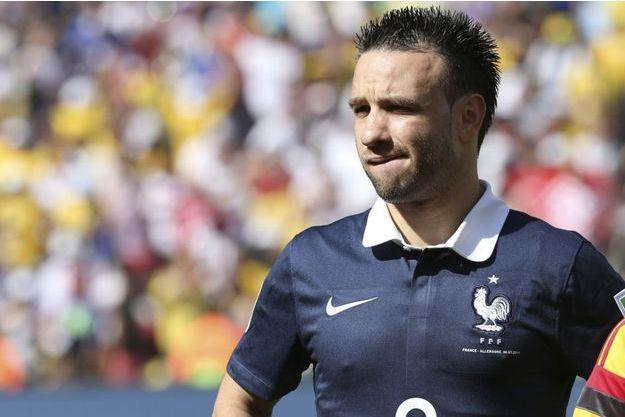 Mathieu Valbuena sous le maillot de l'équipe de France.