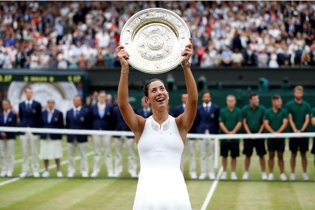 Garbiñe Muguruza a remporté Wimbledon 2017.