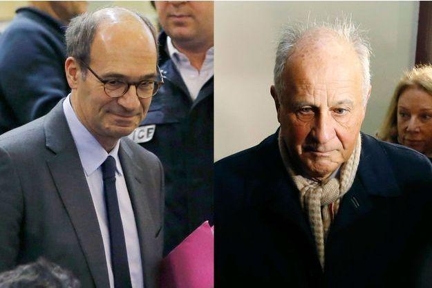 Eric Woerth et Patrice de Maistre, à Bordeaux en janvier lors du premier procès dans l'affaire Bettencourt.