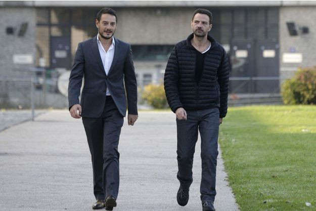 Jérôme Kerviel et son avocat David Koubbi, en septembre 2014.