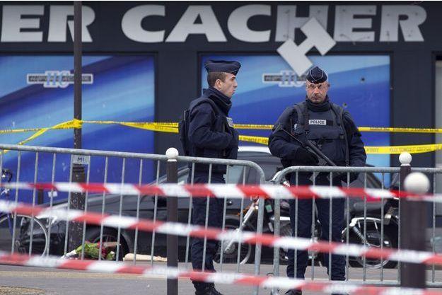 L'hypercacher Porte de Vincennes où qautre personnes ont été tuées.
