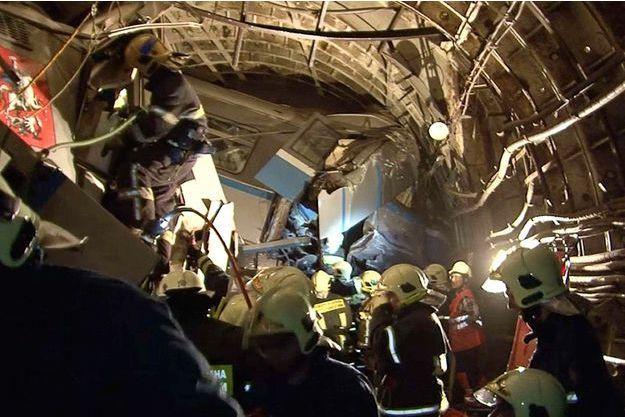 La ligne 3 du métro de Moscou accidentée, le 15 juillet.