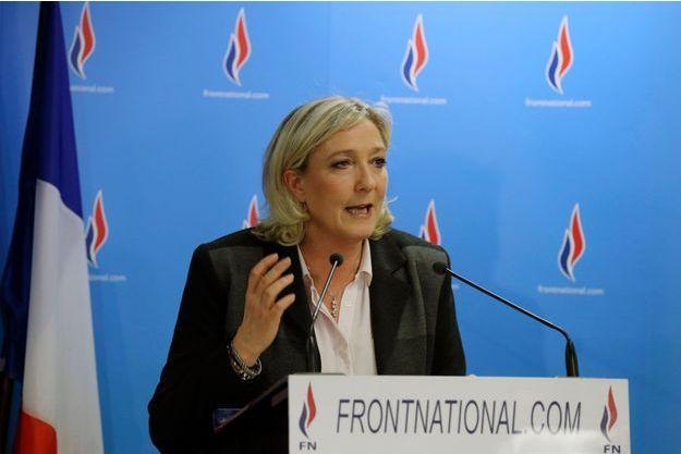 Marine Le Pen le 30 mars.