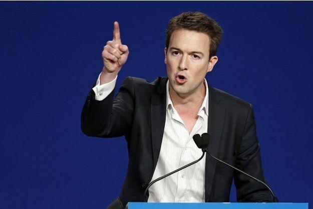 Guillaume Peltier lors d'un meeting UMP en novembre 2012. A cette époque, le parti devait choisir entre Copé et Fillon.
