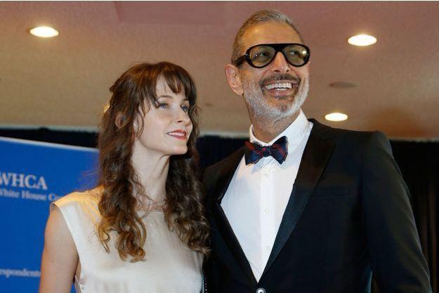 Jeff Goldblum et Emilie Livingston en mai 2014 au dîner annuel de l'association des correspondants de la Maison Blanche.