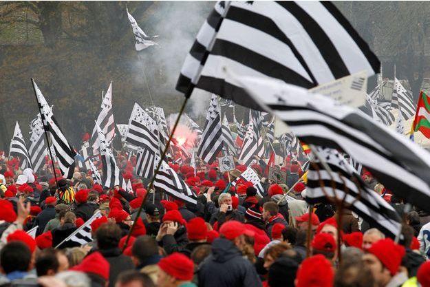 La colère des bonnets rouges,  le 30novembre à Carhaix.