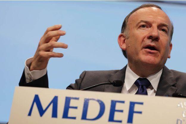 Pierre Gattaz à la tribune de Medef le 3 juillet