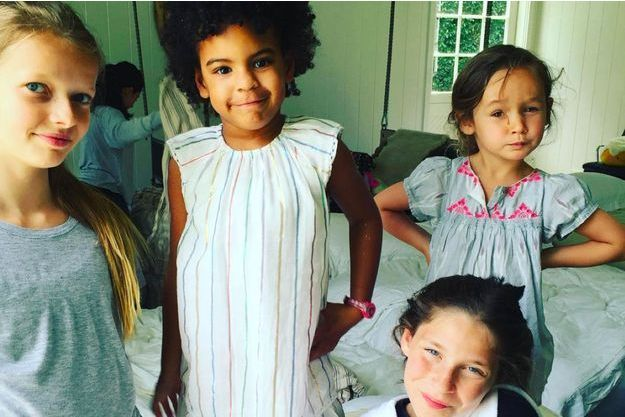 Apple et Blue Ivy à l'aniversaire de la fille de Gwyneth Paltrow, 2016