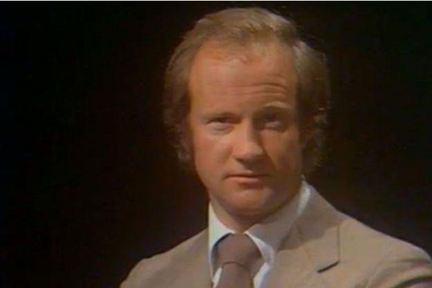 Pierre Pallardy, ici en 1977, sur un plateau de télévision.