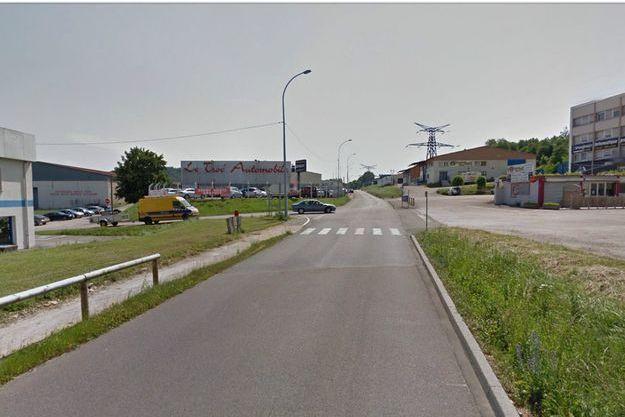 La rue du Rond-Buisson où se trouvait l'entrepôt de la victime
