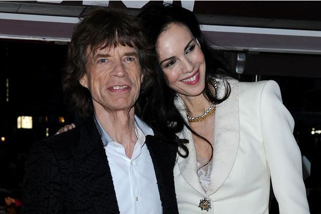 Mick Jagger et sa compagne, 2012.