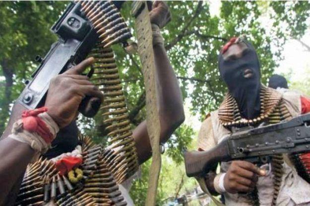 Les Niger Delta Avengers, ici photographiés en 2016, ont fait chuter de moitié la production de pétrole du Nigeria