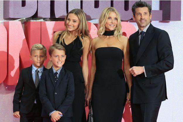 Patrick Dempsey, sa femme Jillian Fink et leurs enfants, Talula, Darby et Sullivan