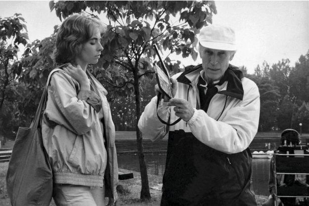 Sur le tournage  de «L'ami de mon amie»,avec Emmanuelle Chaulet.