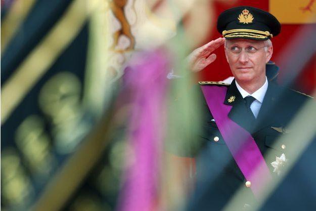 Le roi des Belges Philippe, lors de la fête nationale cette semaine.