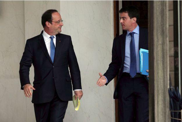 François Hollande et Manuel Valls le 26 mai, à l'Elysée.